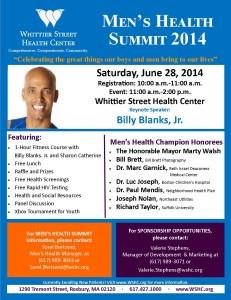 2014 Men's Health Summit- Flyer