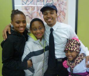 Dad daughter sisters